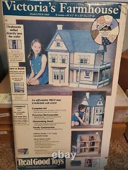 Vtg Real Good Toys Victoria's Farmhouse Dollhouse Kit 112 Wood