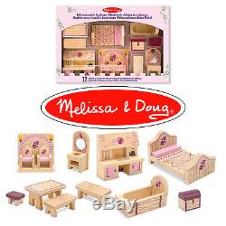 Wooden Dollhouse Furniture Miniature Lot Kit Set Mini Handmade Girl